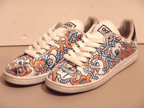 Sneakers customised by Atang Tshikare