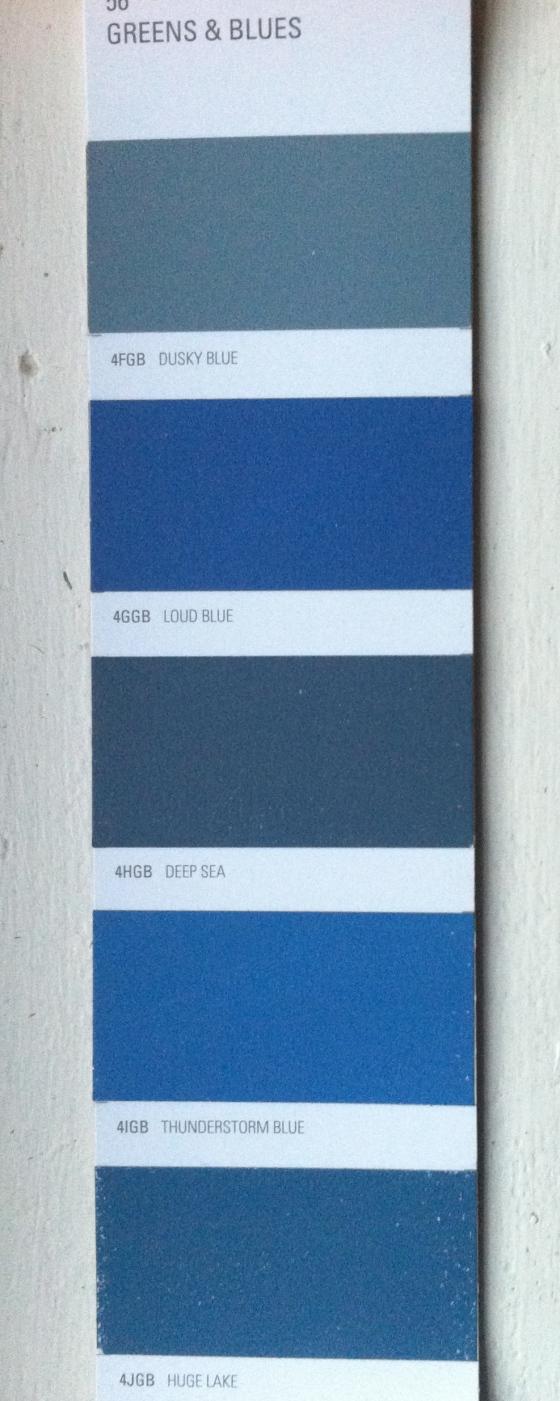 Blues from the Midas Envirolite ZERO VOC range or environmentally friendly paints.